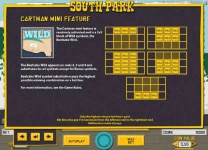 Jackpot Mobile featuring the Video Slots South Park with a maximum payout of $750