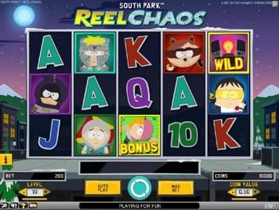 Play slots at Cbet: Cbet featuring the Video Slots South Park Reel Chaos with a maximum payout of $50,000