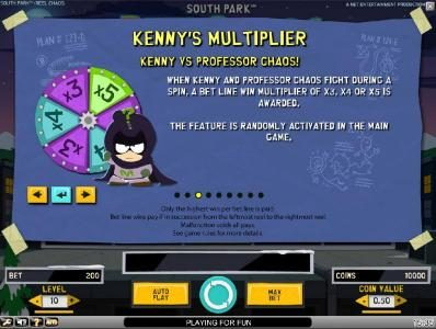 Karamba featuring the Video Slots South Park Reel Chaos with a maximum payout of $50,000