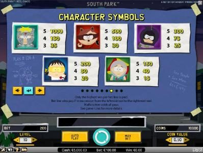Yoyo featuring the Video Slots South Park Reel Chaos with a maximum payout of $50,000