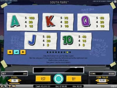 Malina featuring the Video Slots South Park Reel Chaos with a maximum payout of $50,000