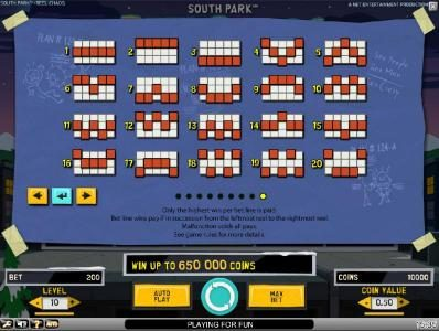 Vera&John featuring the Video Slots South Park Reel Chaos with a maximum payout of $50,000