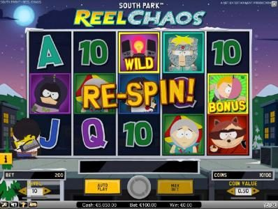 Thrills featuring the Video Slots South Park Reel Chaos with a maximum payout of $50,000
