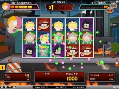 Winstar featuring the Video Slots South Park Reel Chaos with a maximum payout of $50,000