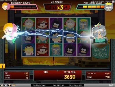 Lightbet featuring the Video Slots South Park Reel Chaos with a maximum payout of $50,000