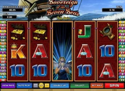 Play slots at Casino-X: Casino-X featuring the Video Slots Sovereign of the Seven Seas with a maximum payout of $6,250