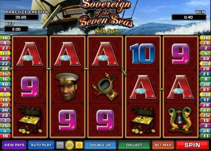 Golden Reef featuring the Video Slots Sovereign of the Seven Seas with a maximum payout of $6,250