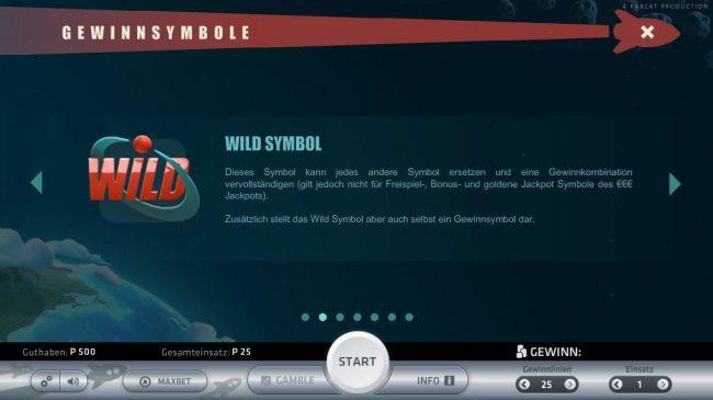 Space Adventure :: Wild Symbol Rules