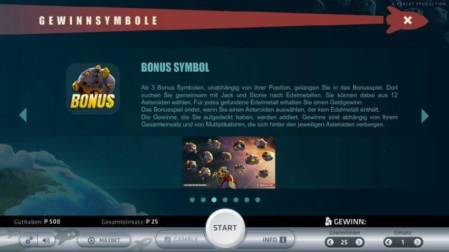 Space Adventure :: Bonus Rules