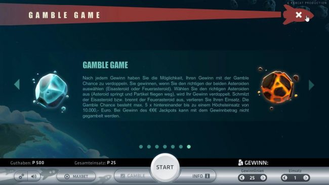 Space Adventure :: Gamble Game Rules