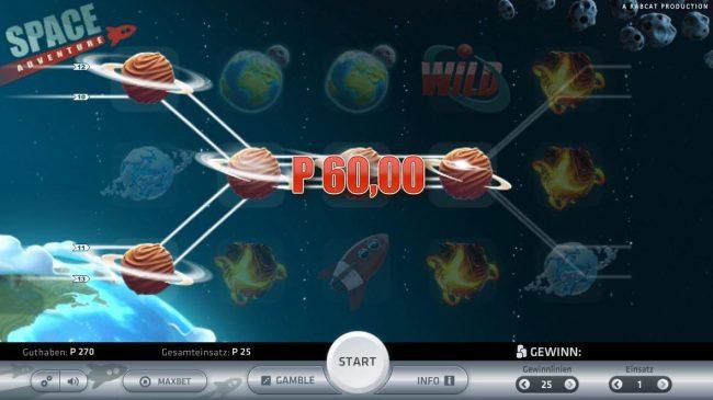 Space Adventure :: Multiple winning paylines