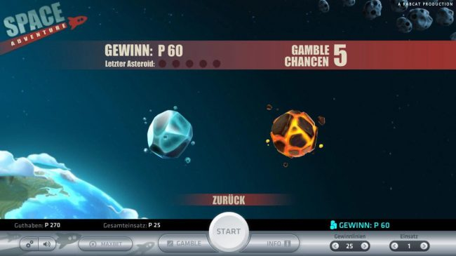 Space Adventure :: Gamble Feature Game Board