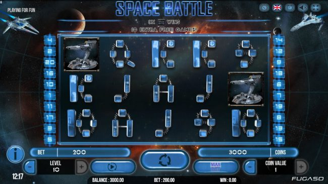 Play slots at Napoli: Napoli featuring the Video Slots Space Battle with a maximum payout of $125,000