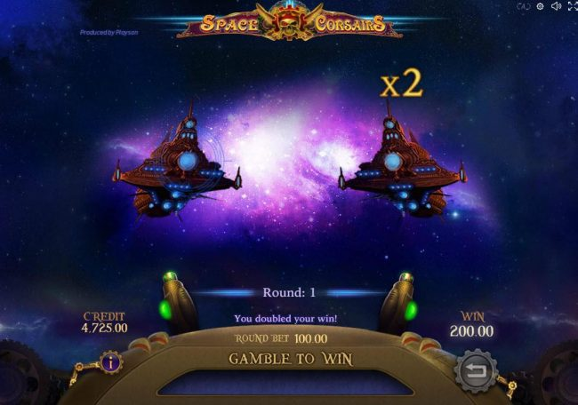 Jellybean Casino featuring the Video Slots Space Corsairs with a maximum payout of $10,000