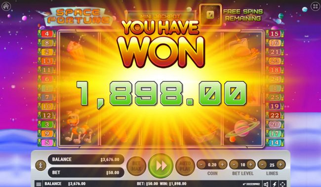 Play slots at Oshi: Oshi featuring the Video Slots Space Fortune with a maximum payout of $2,500,000