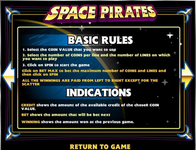 7Bit featuring the Video Slots Space Pirates with a maximum payout of $125,000