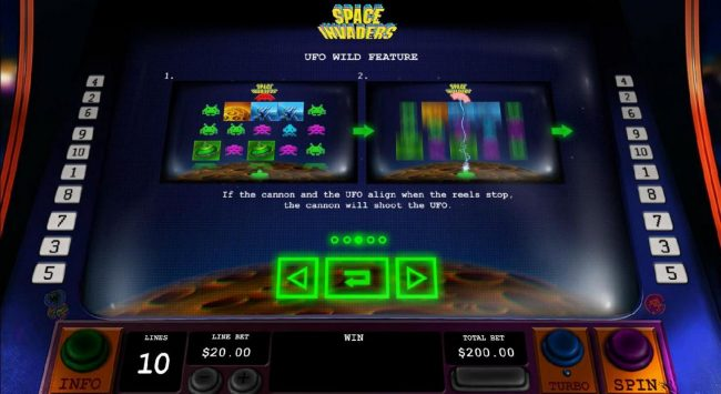 Titanbet.it featuring the Video Slots Space Invaders with a maximum payout of $3,000