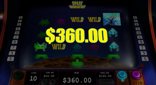 Play slots at Vernons: Vernons featuring the Video Slots Space Invaders with a maximum payout of $3,000