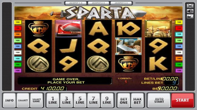 Play slots at Casumo: Casumo featuring the Video Slots Sparta with a maximum payout of $81,000