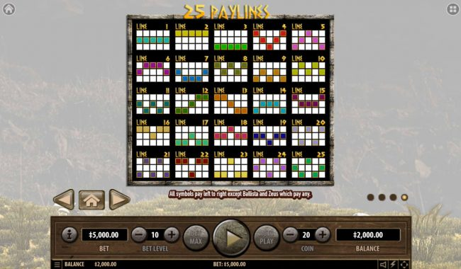 Slots Village featuring the Video Slots Sparta with a maximum payout of $2,500,000