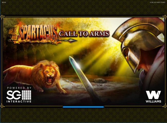 Vegas Spins featuring the Video Slots Spartacus Call to Arms with a maximum payout of $250,000