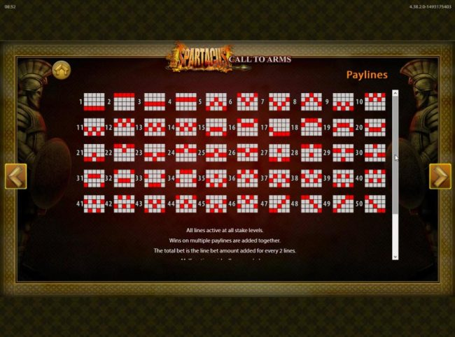 Karl Casino featuring the Video Slots Spartacus Call to Arms with a maximum payout of $250,000