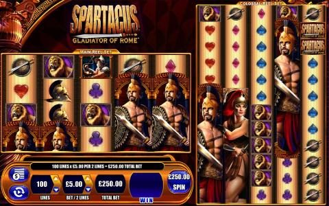 Play slots at Dream Vegas: Dream Vegas featuring the Video Slots Spartacus Gladiator Of Rome with a maximum payout of $250,000