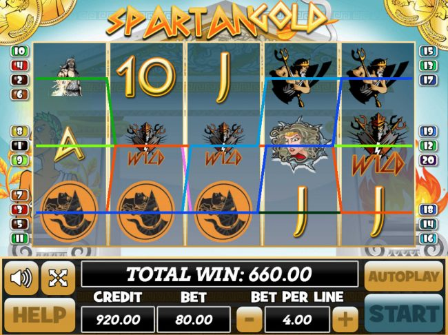 Venetian featuring the Video Slots Spartan Gold with a maximum payout of $24,000