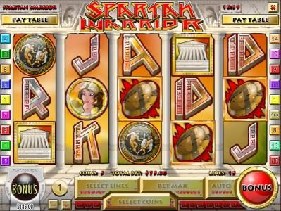 Grand Bay featuring the Video Slots Spartan Warrior with a maximum payout of $25,000