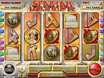 Desert Nights Rival featuring the Video Slots Spartan Warrior with a maximum payout of $25,000