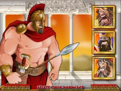 Golden Lion featuring the Video Slots Spartan Warrior with a maximum payout of $25,000