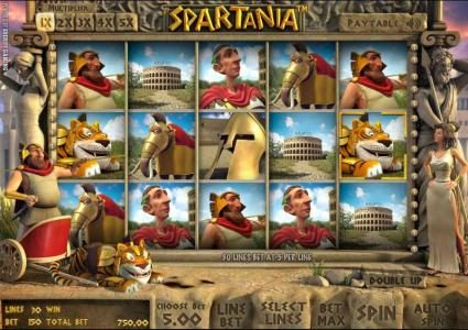 Play slots at Casino Kaiser: Casino Kaiser featuring the Video Slots Spartania with a maximum payout of $12,500