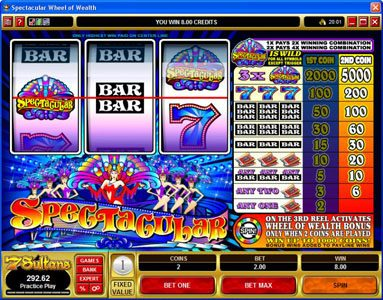 Lucky Nugget featuring the Video Slots Spectacular with a maximum payout of $25,000
