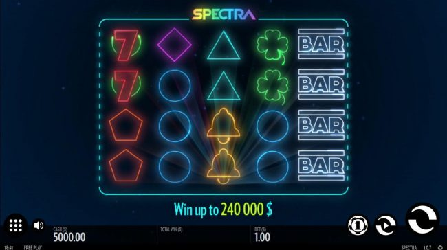 Play slots at Malina: Malina featuring the Video Slots Spectra with a maximum payout of $240,000