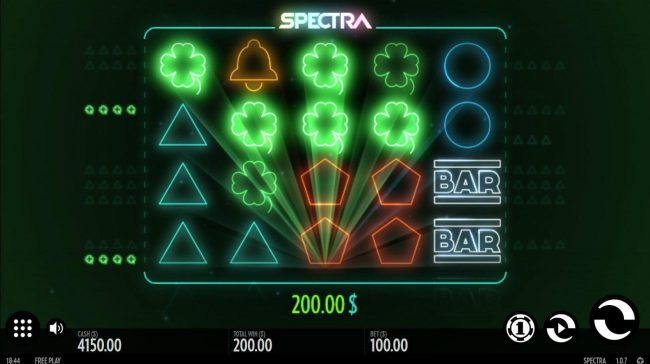 Mr Green featuring the Video Slots Spectra with a maximum payout of $240,000
