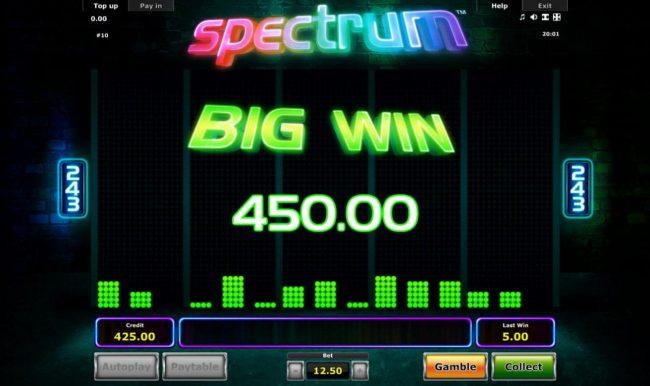 Spectrum :: Big Win 450.00