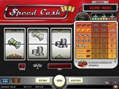 Joker Casino featuring the Video Slots Speed Cash with a maximum payout of Jackpot