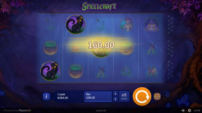Diamond Club VIP featuring the Video Slots Spell Craft with a maximum payout of $64,800