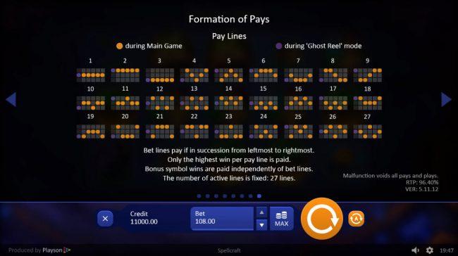 Spell Craft :: Paylines 1-27