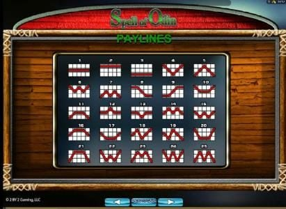 Come On featuring the Video Slots Spell of Odin with a maximum payout of $250,000