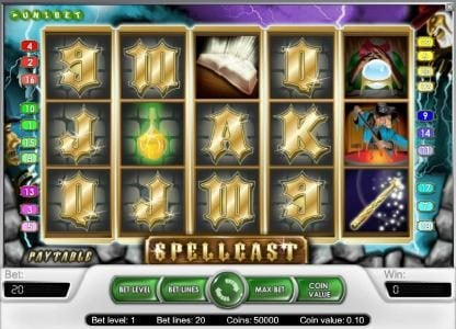 Betting Ways featuring the Video Slots Spellcast with a maximum payout of $20,000