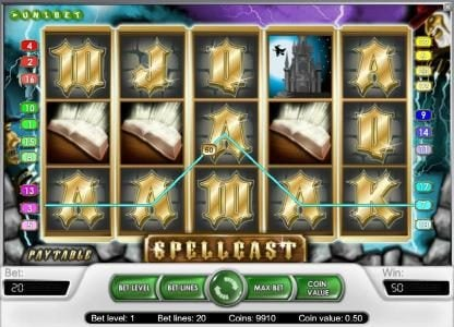 Touch Lucky featuring the Video Slots Spellcast with a maximum payout of $20,000