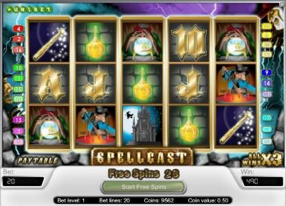 Casumo featuring the Video Slots Spellcast with a maximum payout of $20,000
