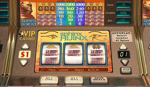 Fruity Vegas featuring the video-Slots Sphinx Hijinx with a maximum payout of 3,000x