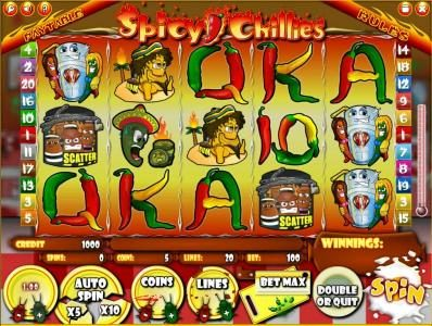 Play slots at Astralbet: Astralbet featuring the Video Slots Spicy Chillies with a maximum payout of $500,000