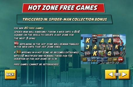 Omni featuring the Video Slots Spider-Man with a maximum payout of $50,000