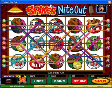 Grand Mondial featuring the Video Slots Spike's Nite Out with a maximum payout of $30,000