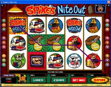 Spin Palace featuring the Video Slots Spike's Nite Out with a maximum payout of $30,000