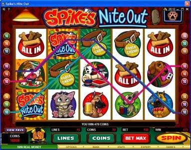 Jackpot Paradise featuring the Video Slots Spike's Nite Out with a maximum payout of $30,000