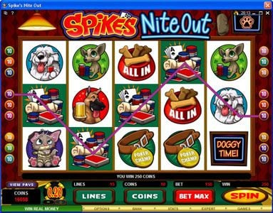 Slots Magic featuring the Video Slots Spike's Nite Out with a maximum payout of $30,000